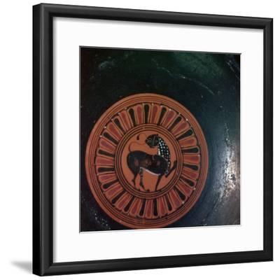 Motif from Corinthian-style dish, 6th century BC. Artist: Unknown-Unknown-Framed Giclee Print