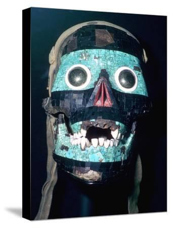 Aztec Turquoise and Lignite mosaic mask of Tezcatlipoca, 15th - 16th century.-Unknown-Stretched Canvas Print