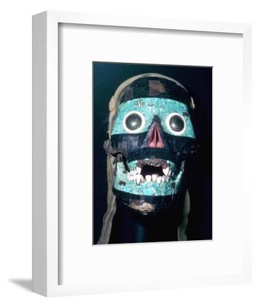 Aztec Turquoise and Lignite mosaic mask of Tezcatlipoca, 15th - 16th century.-Unknown-Framed Giclee Print