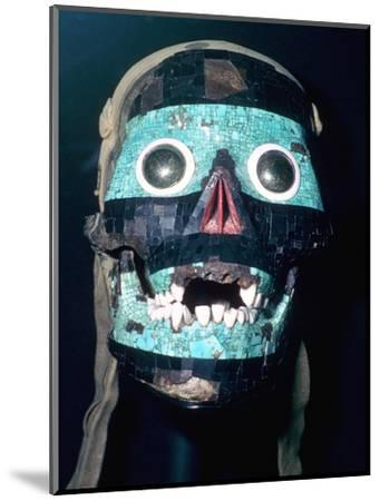 Aztec Turquoise and Lignite mosaic mask of Tezcatlipoca, 15th - 16th century.-Unknown-Mounted Giclee Print