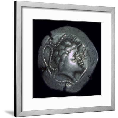 Gold 'stater' of the/issued by Namnetes, 2nd century. Artist: Unknown-Unknown-Framed Giclee Print
