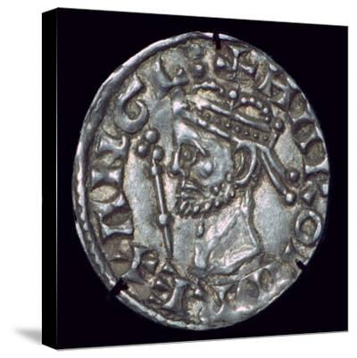 Anglo-Saxon Silver Penny of Harold II. Artist: Unknown-Unknown-Stretched Canvas Print