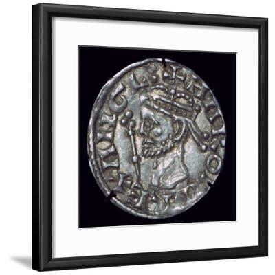 Anglo-Saxon Silver Penny of Harold II. Artist: Unknown-Unknown-Framed Giclee Print