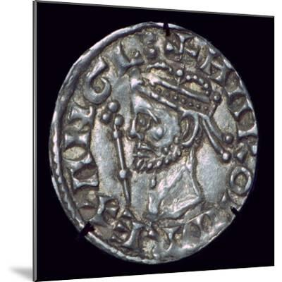 Anglo-Saxon Silver Penny of Harold II. Artist: Unknown-Unknown-Mounted Giclee Print