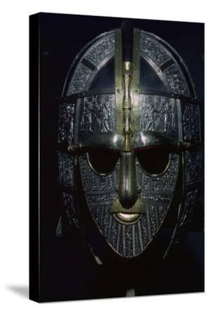 Sutton Hoo Helmet (reconstruction). Artist: Unknown-Unknown-Stretched Canvas Print