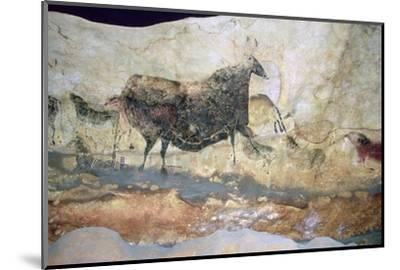 La Scaux cave painting of Aurochs. Artist: Unknown-Unknown-Mounted Photographic Print