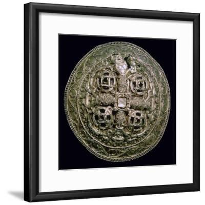 Circular Viking gold brooch from Denmark, 9th century. Artist: Unknown-Unknown-Framed Giclee Print