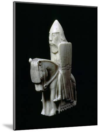 A Knight - The Lewis Chessmen, (Norwegian?), c1150-c1200. Artist: Unknown-Unknown-Mounted Giclee Print