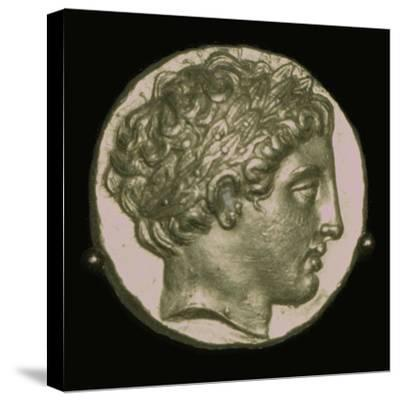 Gold Stater of Phillip II of Macedon, 4th century BC. Artist: Unknown-Unknown-Stretched Canvas Print