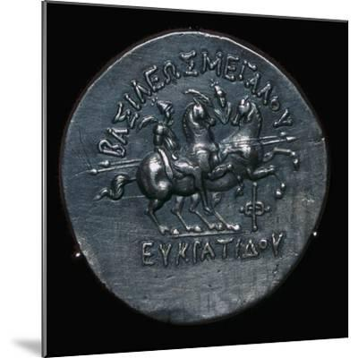 Silver coin of Eucratides I, a King of Bactria. Artist: Unknown-Unknown-Mounted Giclee Print