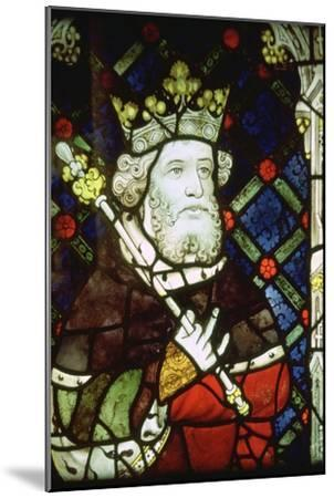 Stained thirteenth century glass image of King Cnut (985/95-1035). Artist: Unknown-Unknown-Mounted Giclee Print