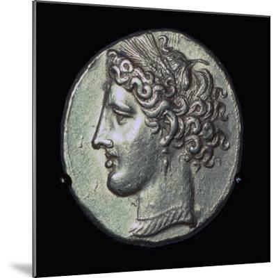 Head of Tanit on a gold tridrachm. Artist: Unknown-Unknown-Mounted Giclee Print