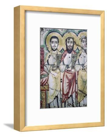 Detail of a coptic wall painting showing two apostles, 6th Century. Artist: Unknown-Unknown-Framed Photographic Print