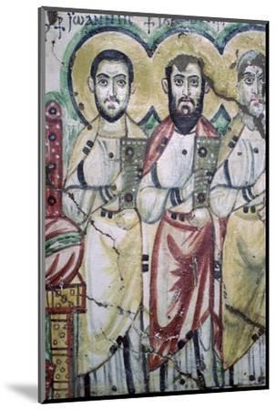 Detail of a coptic wall painting showing two apostles, 6th Century. Artist: Unknown-Unknown-Mounted Photographic Print