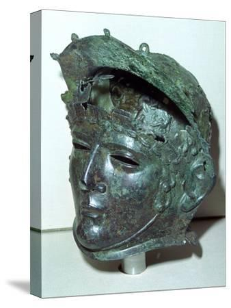 Cavalry sports helmet, Roman Britain, late 1st or early 2nd century. Artist: Unknown-Unknown-Stretched Canvas Print