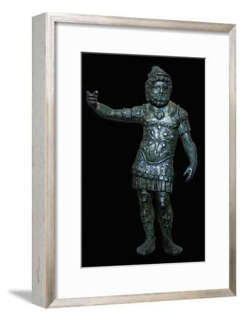 Copper alloy figure of Mars with silver inlay, Roman Britain, 2nd century. Artist: Unknown-Unknown-Framed Giclee Print