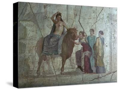 Roman fresco of Europa and the bull. Artist: Unknown-Unknown-Stretched Canvas Print