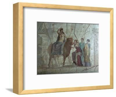 Roman fresco of Europa and the bull. Artist: Unknown-Unknown-Framed Giclee Print