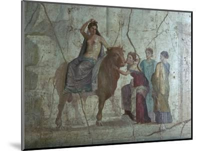 Roman fresco of Europa and the bull. Artist: Unknown-Unknown-Mounted Giclee Print