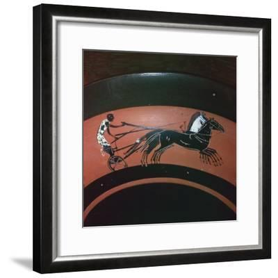 Depiction of chariot-racing on an Attic kylix, 6th century BC. Artist: Unknown-Unknown-Framed Giclee Print