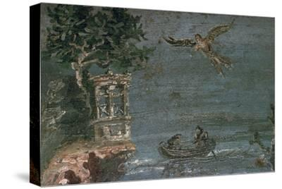 Roman wall-painting of Icarus. Artist: Unknown-Unknown-Stretched Canvas Print