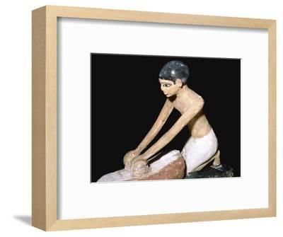 Wooden model showing bakers at work, Egyptian, 12th Dynasty, c1900 BC. Artist: Unknown-Unknown-Framed Giclee Print