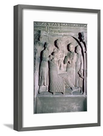 Roman relief of a woman's hair being dressed. Artist: Unknown-Unknown-Framed Giclee Print