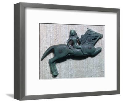 Archaic Greek bronze of a horse and rider, 6th century BC. Artist: Unknown-Unknown-Framed Giclee Print