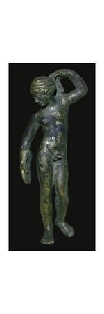 Roman copper alloy figure of the god Hermaphrodite? Artist: Unknown-Unknown-Stretched Canvas Print