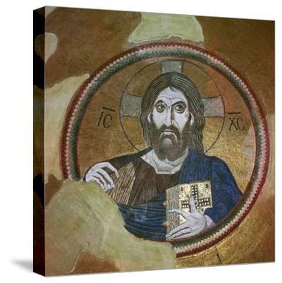 Byzantine mosaic of Christ Pantocrator. Artist: Unknown-Unknown-Stretched Canvas Print