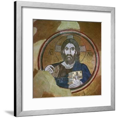Byzantine mosaic of Christ Pantocrator. Artist: Unknown-Unknown-Framed Giclee Print