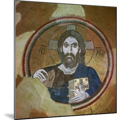 Byzantine mosaic of Christ Pantocrator. Artist: Unknown-Unknown-Mounted Giclee Print