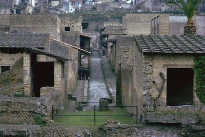 The Roman town of Herculaneum, 1st century. Artist: Unknown-Unknown-Framed Photographic Print
