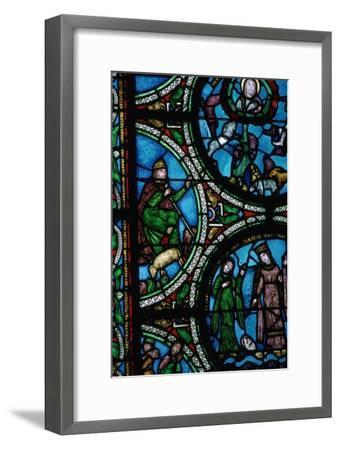 Detail of a stained glass window showing the story of Moses, 12th century. Artist: Unknown-Unknown-Framed Giclee Print
