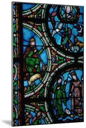 Detail of a stained glass window showing the story of Moses, 12th century. Artist: Unknown-Unknown-Mounted Giclee Print