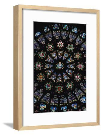 Rose window in the south transeit of St Denis, 12th century. Artist: Unknown-Unknown-Framed Giclee Print