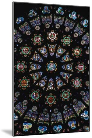 Rose window in the south transeit of St Denis, 12th century. Artist: Unknown-Unknown-Mounted Giclee Print