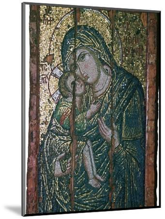Byzantine mosaic of Virgin and Child, 14th century. Artist: Unknown-Unknown-Mounted Giclee Print