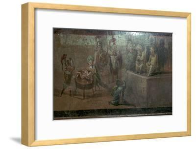 Roman wall-painting of the Judgement of Solomon. Artist: Unknown-Unknown-Framed Giclee Print