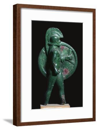 Greek bronze of a warrior, 6th century BC. Artist: Unknown-Unknown-Framed Giclee Print