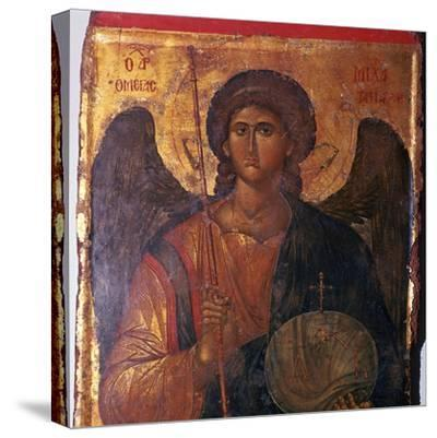 Byzantine icon of the Archangel Michael, 14th century. Artist: Unknown-Unknown-Stretched Canvas Print