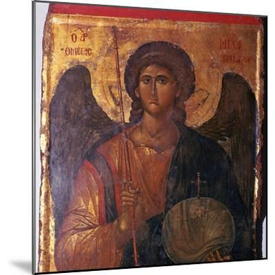 Byzantine icon of the Archangel Michael, 14th century. Artist: Unknown-Unknown-Mounted Giclee Print