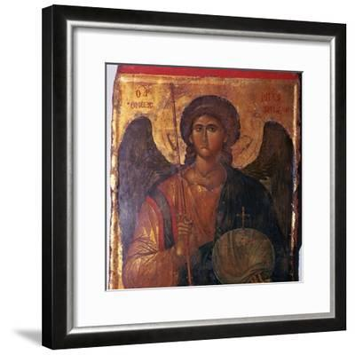 Byzantine icon of the Archangel Michael, 14th century. Artist: Unknown-Unknown-Framed Giclee Print