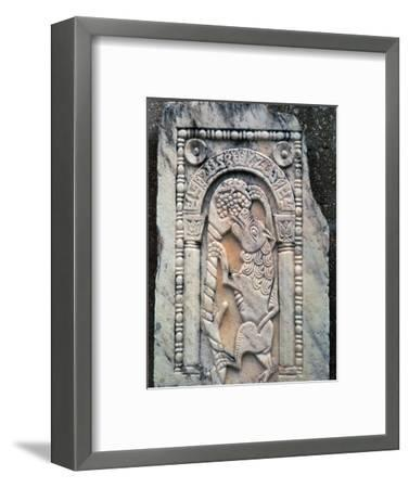 Marble Roman slab of the Fox and Grapes. Artist: Unknown-Unknown-Framed Giclee Print