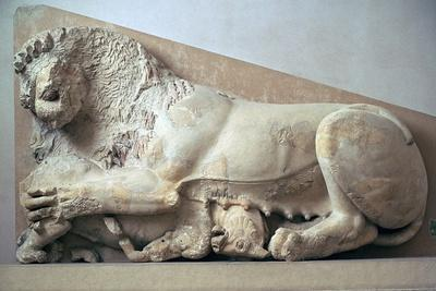 Sculpture of a lioness devouring a bull, 6th century BC. Artist: Unknown-Unknown-Framed Giclee Print