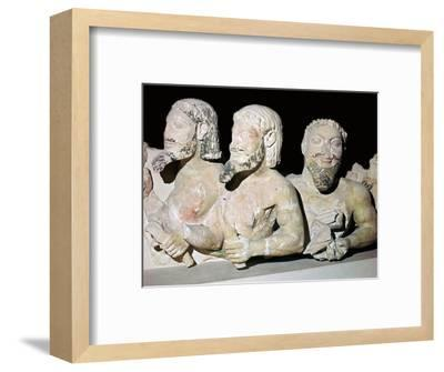Depiction of Typhon from the pediment of an early temple. Artist: Unknown-Unknown-Framed Giclee Print