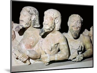 Depiction of Typhon from the pediment of an early temple. Artist: Unknown-Unknown-Mounted Giclee Print