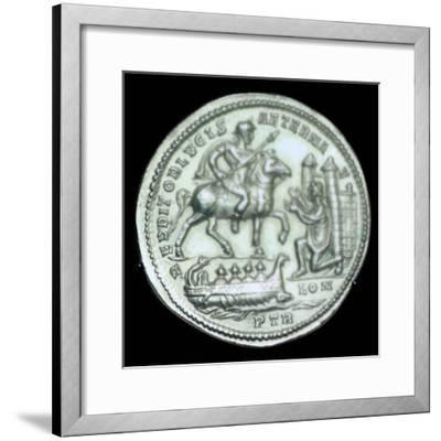 Gold medallion of Constantius I, 3rd century. Artist: Unknown-Unknown-Framed Giclee Print