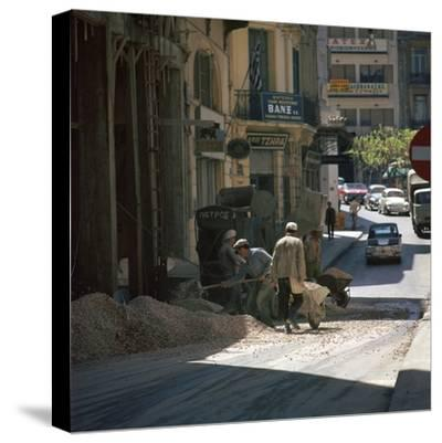 Scene of an Athenian street. Artist: Unknown-Unknown-Stretched Canvas Print