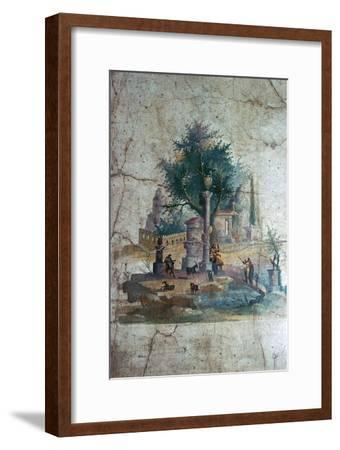 Roman wall-painting of a mythical landscape, c.1st century. Artist: Unknown-Unknown-Framed Giclee Print